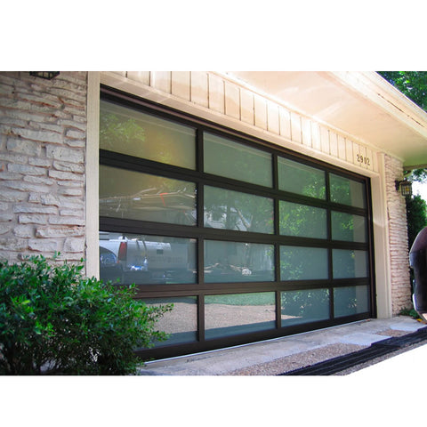 WDMA Cheap Wholesale Warehouse Electric Transparent Sectional Modern New Black Panel Garage Door