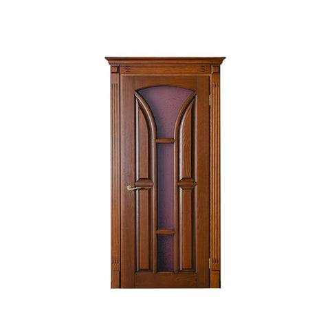 WDMA China Customized Modern Design Interior Solid Wooden Doors Photos for Villas