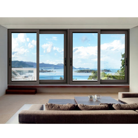 WDMA China Factory Aluminum Sliding Tempered Glass Window