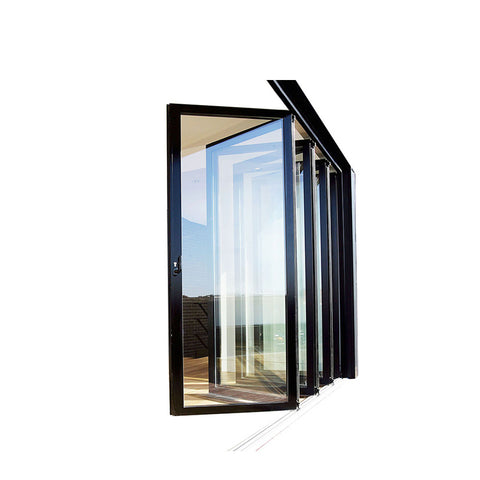 China WDMA aluminum accordion door Aluminum Folding Doors