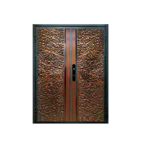 WDMA China Modern Aluminium Security Double Leaf Swing Door Main Gate Design Cast Aluminium Door Price