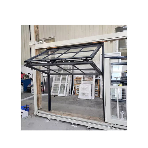 WDMA China Standard America Style Aluminum Folding Up Open Restaurant Glass Vertical Folding Window