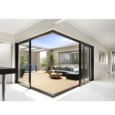 China WDMA 3 panel sliding patio door price Aluminium Sliding Doors