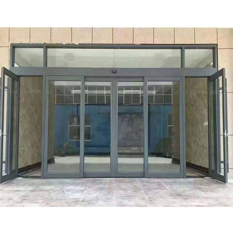China WDMA Automatic Glass Sliding Door