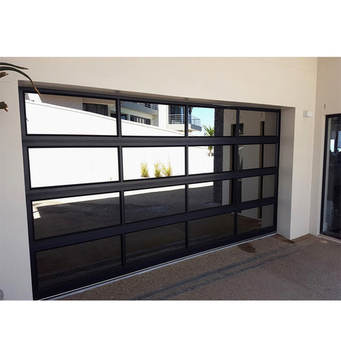 WDMA Commercial Balcony Large Glass Aluminium Front Main Louver Entrance Entry Door Garage