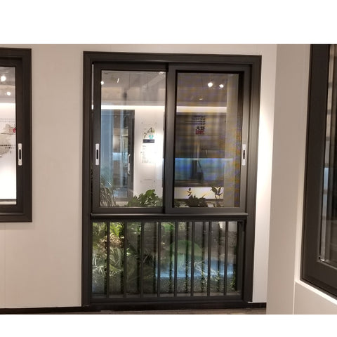 China WDMA aluminum sliding window with transom window Aluminum Sliding Window