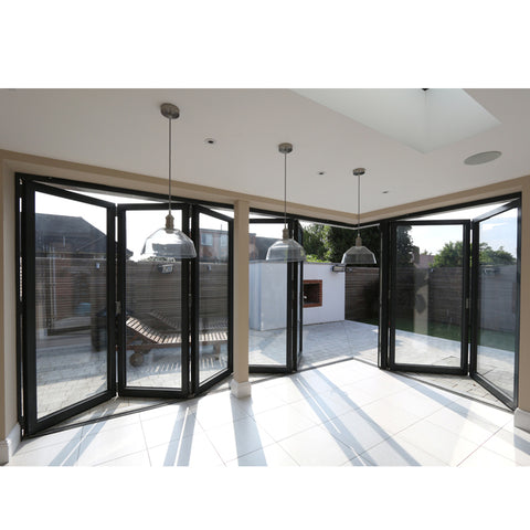 WDMA Custom Latest Main Designs Frameless Sliding Folding And Foldable Glass Door