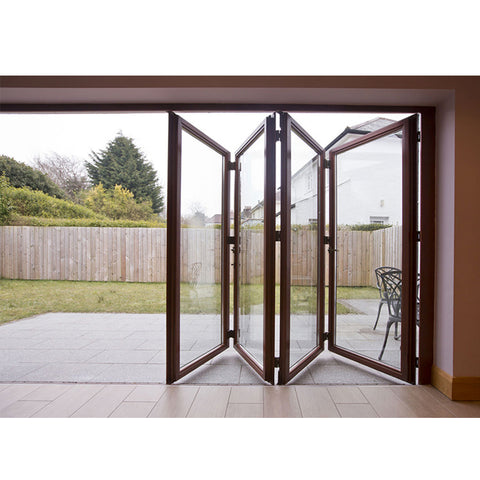China WDMA Frameless Folding Glass Door