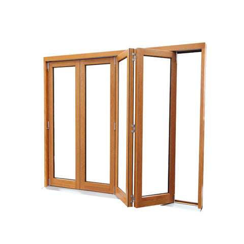 WDMA Custom White Latest Luxury Automatic Soundproof Solid Teak Composite Coated Wood Carving Double Sliding Folding Front Door