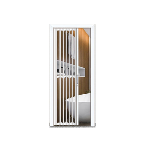 WDMA Customized Size Tempered Clear Glass Bi Folding Pocket Patio Industrial Doors