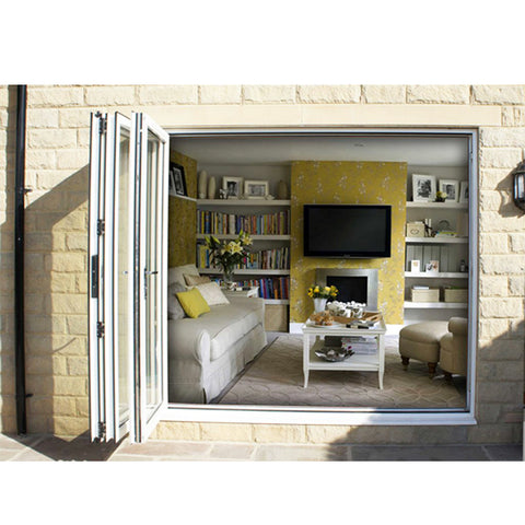 China WDMA sliding folding doors Aluminum Folding Doors