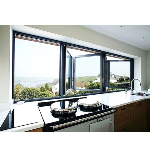 WDMA Double Glazed Horizontal Aluminum Corner Bi Folding Balcony Glass Window And Door
