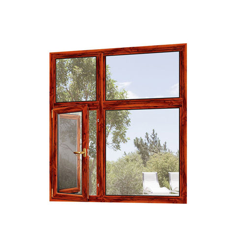 WDMA Double Glazed Thinner Frame Aluminum Wood Window Profile Price