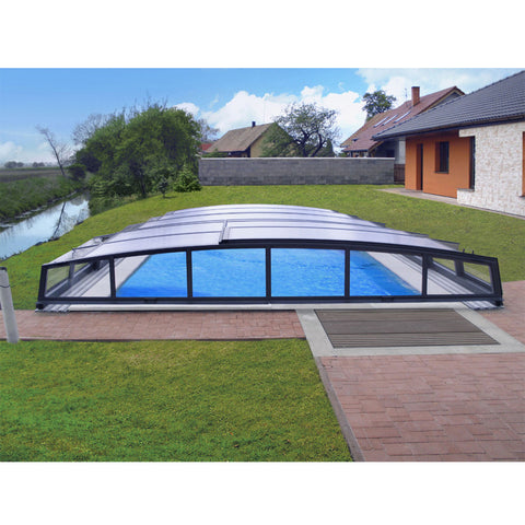 WDMA Electric Pool Cover Retractable Awning Swming Pool Enclosure