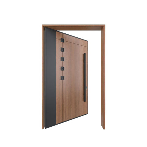 China WDMA Glass Pivot Door