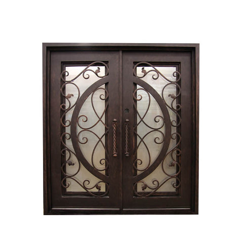 WDMA Elegant Safety Double Entry Main Door Window Wrought Iron Gates Designs
