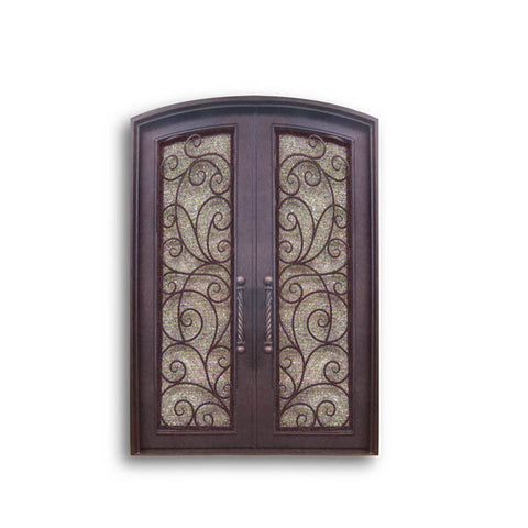 China WDMA double door iron gates elegant iron door