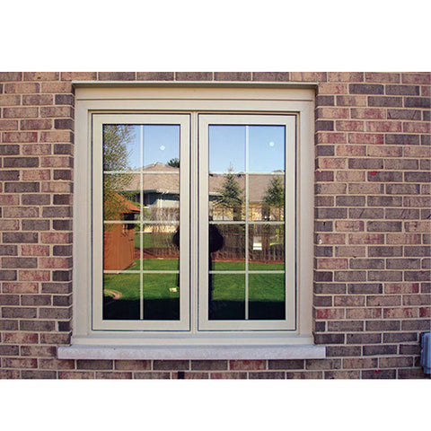 WDMA European And American Design Casement Wood Window With Full Divided Lites