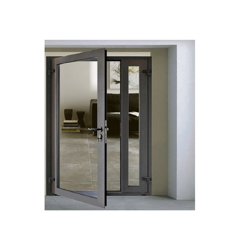 WDMA Exterior Aluminium Hinged Patio Doors Casement Doors External Aluminum Glazed Front French Glass Doors