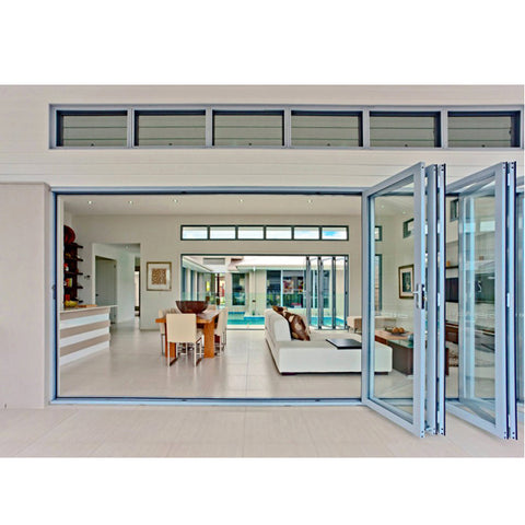 WDMA Exterior Aluminum Folding Sliding Glass Door Price Shandong Factory