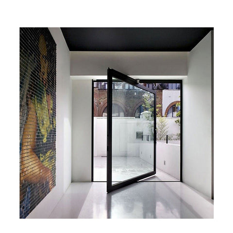 WDMA Exterior Interior Commercial Aluminium Metal 180 Degree Hinge Center Pivot Entrance Entry Front Glass Door System