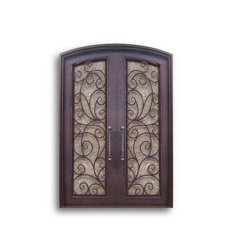 China WDMA wrought iron door double Steel Door Wrought Iron Door