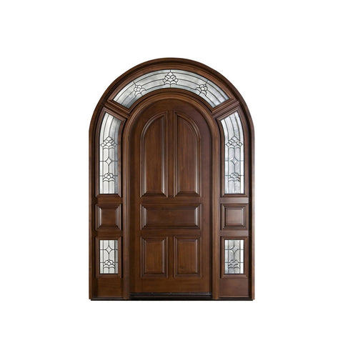 China WDMA teak wood double door design Wooden doors