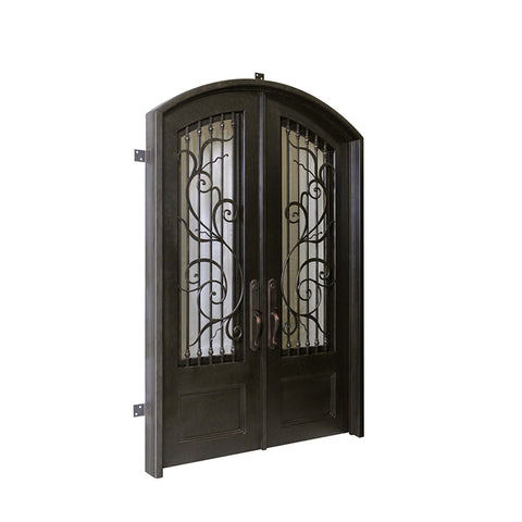 WDMA Exterior Wrought Iron Entry Door Front Door Design
