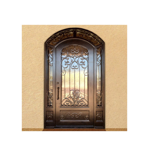 China WDMA wrought iron door Steel Door Wrought Iron Door