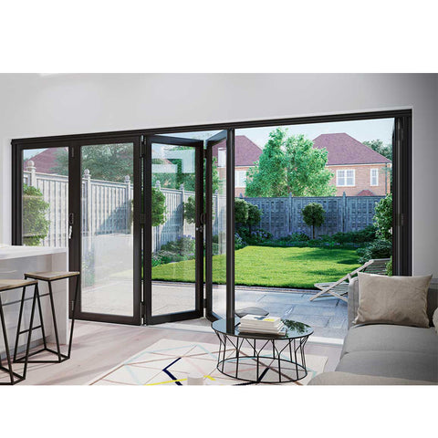 WDMA Factory Horizontal Blinds Sliding Glass Doors Accordion