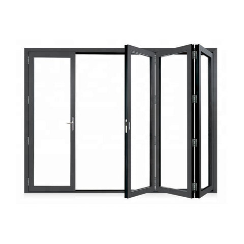 China WDMA Aluminium bi-folding door Aluminum Folding Doors