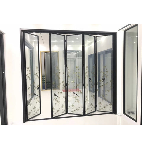 WDMA Folding Style Cheap Door Aluminum Interior Fold Sliding Door