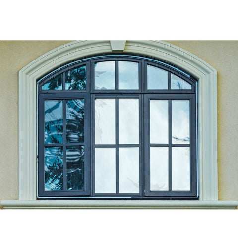 WDMA Frame Round Pictures Aluminum Window And Door Arch And Grill Design Burglar Proof