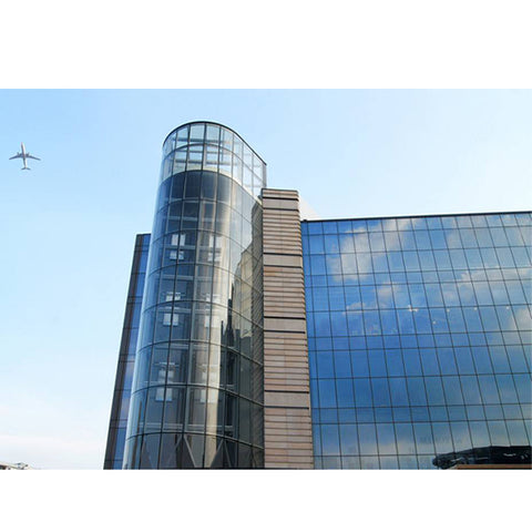 China WDMA curved glass curtain wall Aluminium Curtain Wall