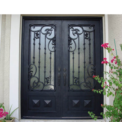 China WDMA main iron door grill design Steel Door Wrought Iron Door