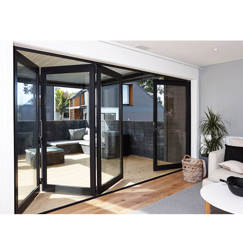 China WDMA Grey Aluminium Bifold Doors