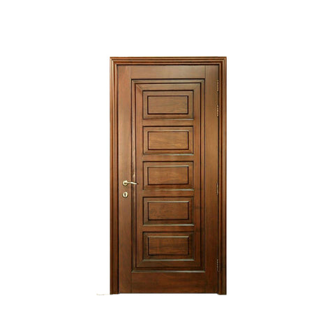 WDMA Handmade Carving wooden door with glass design