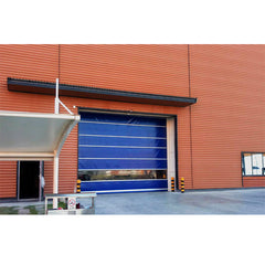China WDMA High Speed Fast Sprial Roll Up Pvc Stacking Doors Canvas Garage Door