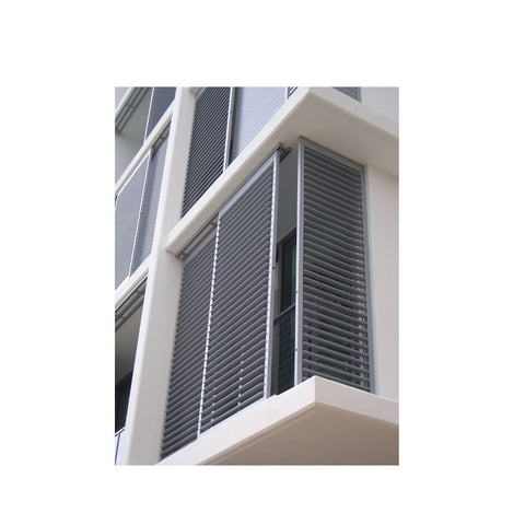 WDMA Hurricane Impact Burglar Proof Adjustable Aluminum Screen Shutter Jalousie Casement Window Louver