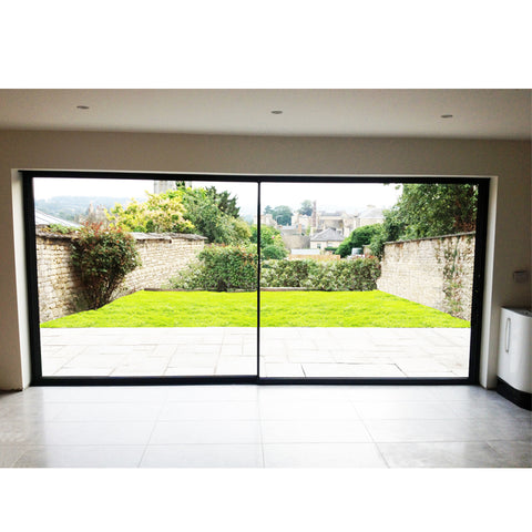 WDMA Hurricane Impact Large Patio Slimline Sliding Glass Doors With Retractable Screen