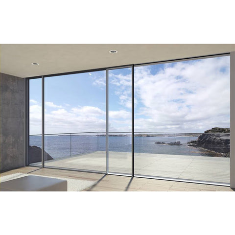 China WDMA hurricane impact patio sliding doors with screen Aluminum Sliding Doors
