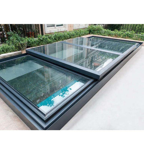 WDMA Hurricane Proof Soundproof Double Glazed Tempered Glass Flat Skyview Roof Window And Door Balcony