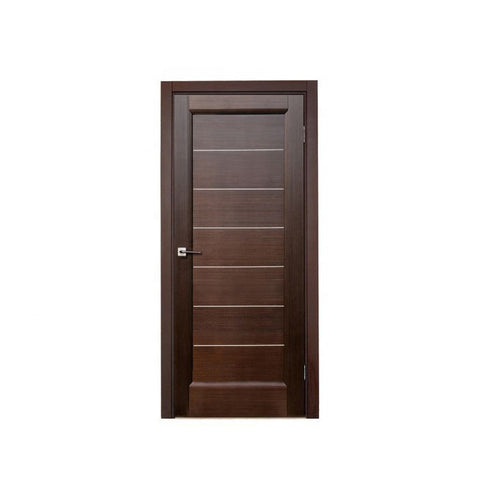 WDMA Indoor Mdf Wooden Office Door With Groove Design