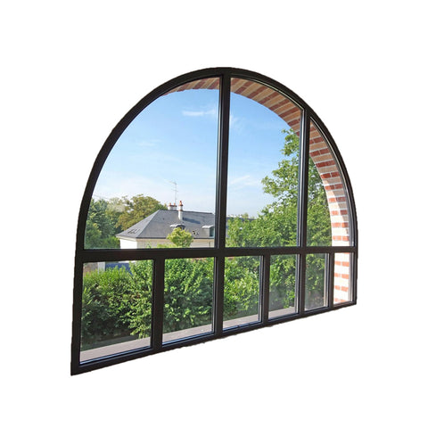 China WDMA beveled glass windows Aluminum Fixed Window