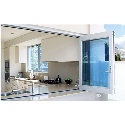 WDMA Interior Aluminium Black Triple Glazed Folding Glass Windows And Doors Folding Aluminum
