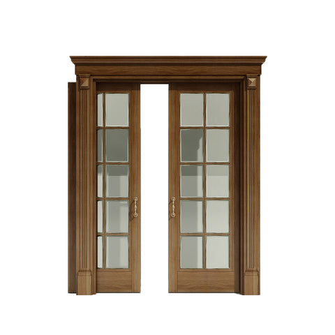 WDMA Interior Glass Kitchen Wood Pocket Door Design