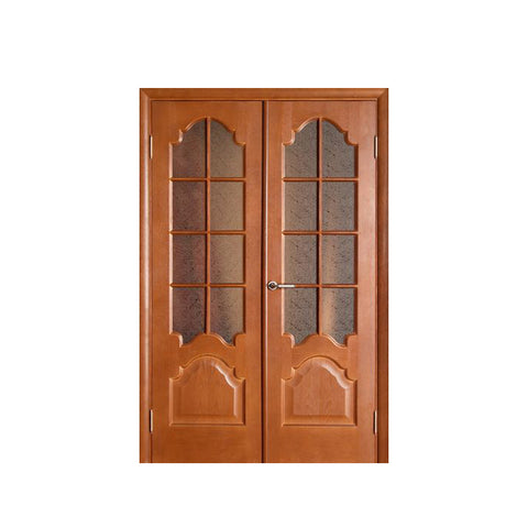 WDMA Interior Glass Wooden Door For Bedroom Design