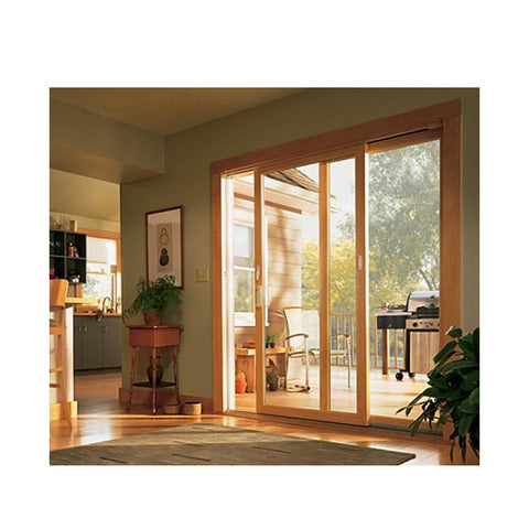 WDMA Korean Apartments Watertight Folding Sliding Patio Beech Wood Door For Interior Room