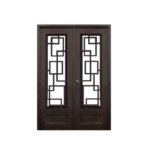 China WDMA iron folding door Steel Door Wrought Iron Door