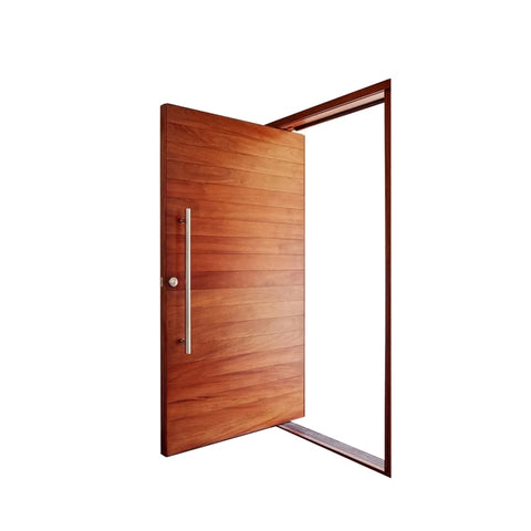 WDMA Luxury 48 X96 Entrance Veneer Solid Core Wood Pivot Front Door For Villa Entrance